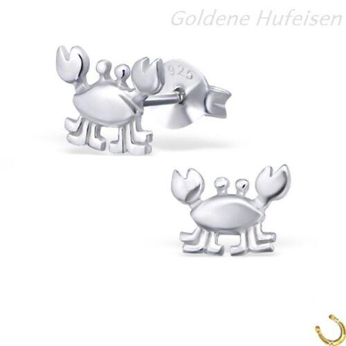 Krabbe Krebs Ohrstecker 925 Sterling Silber Ohrringe Geschenkidee gh-1a