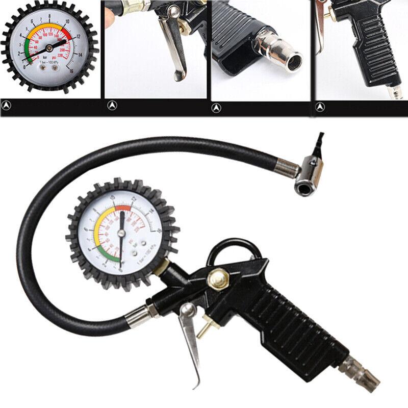 Auto Reifenfüller Reifendruckfüllgerät Druckluftprüfer Reifendruckpistole DHL
