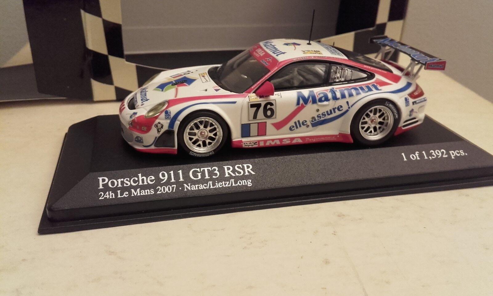 PORSCHE 911 GT3 RSR 24 heures du mans 2007 minichamps
