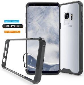 Samsung-Galaxy-S9-amp-S9-Plus-Fusion-Stossstange-Gel-Schutzhuelle-Klare-Rueckseite-durch-ragetorc