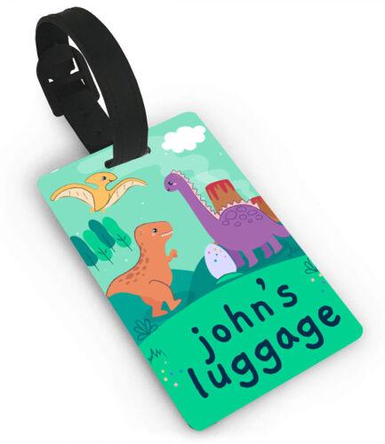 Personnalisé Dinosaure Design Luggage Tag Tout Nom Imprimé Tag Enfants 2