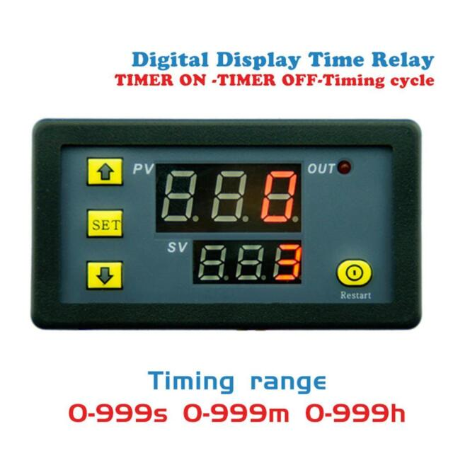 12V 1500W 0-999H Digital Display Time Delay Relay Timing Timer Cycling Module
