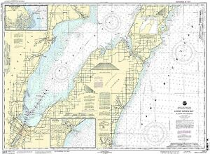 NOAA Chart Lower Green Bay;Oconto Harbor;Algoma 23rd Edition 14910