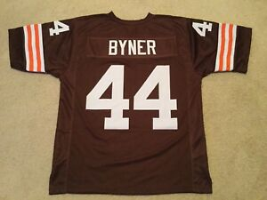 Details about UNSIGNED CUSTOM Sewn Stitched Earnest Byner Brown Jersey - M, L, XL, 2XL