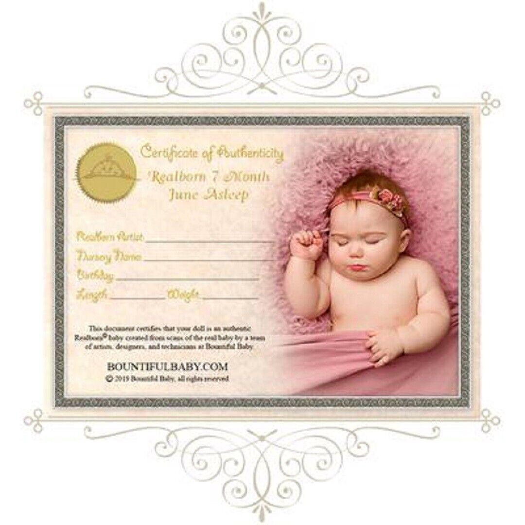 Huge realborn toddler 6 months June asleep reborn doll unpainted ( kit)