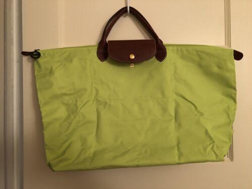Long Champ Lime Green Large Tote Bag $130