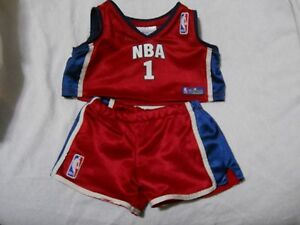 89344c48015 Build A Bear Clothing NBA Basketball Jersey and Shorts Outfit Set ...