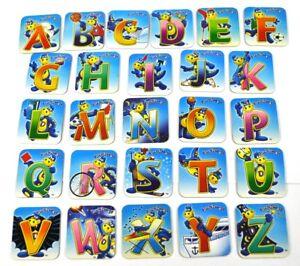 ABC-Set-26-Fruchtzwerge-Buchstaben-Magnete-A-bis-Z-Kuhlschrankmagnete-Magnet