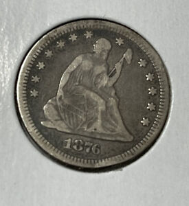 1876-CC SEATED LIBERTY QUARTER CARSON CITY MINT - PLEASING CIRCULATED EXAMPLE!