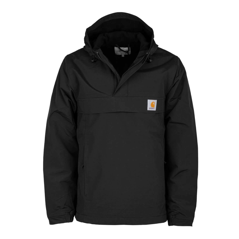 Carhartt wip Men's Nimbus Winter Jacket Black Windbreaker Pullover