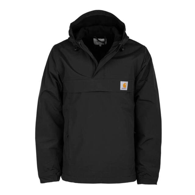 release date a4fa0 d21b7 Carhartt wip Men's Nimbus Winter Jacket Black Windbreaker Pullover