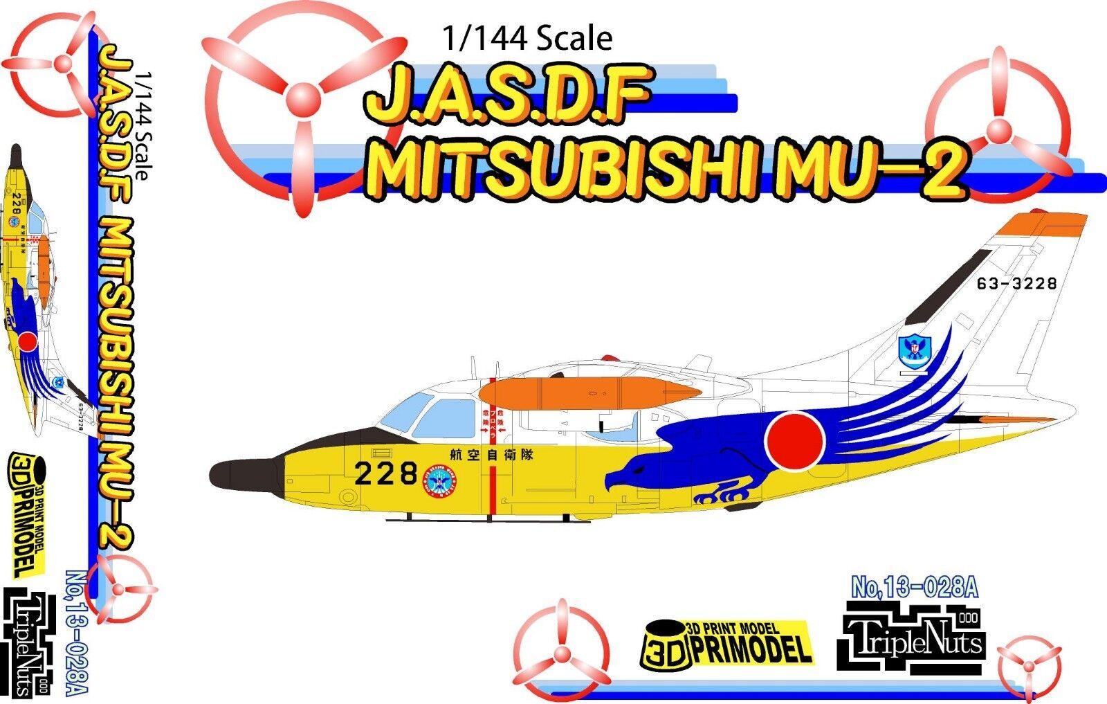 1 144 Modern Rescue Aircraft  Mitsubishi MU-2 [JASDF]   Triple Nuts