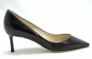 Jimmy-Choo-Ladies-Black-Classic-Heel-ROMY-65-New-in-Box