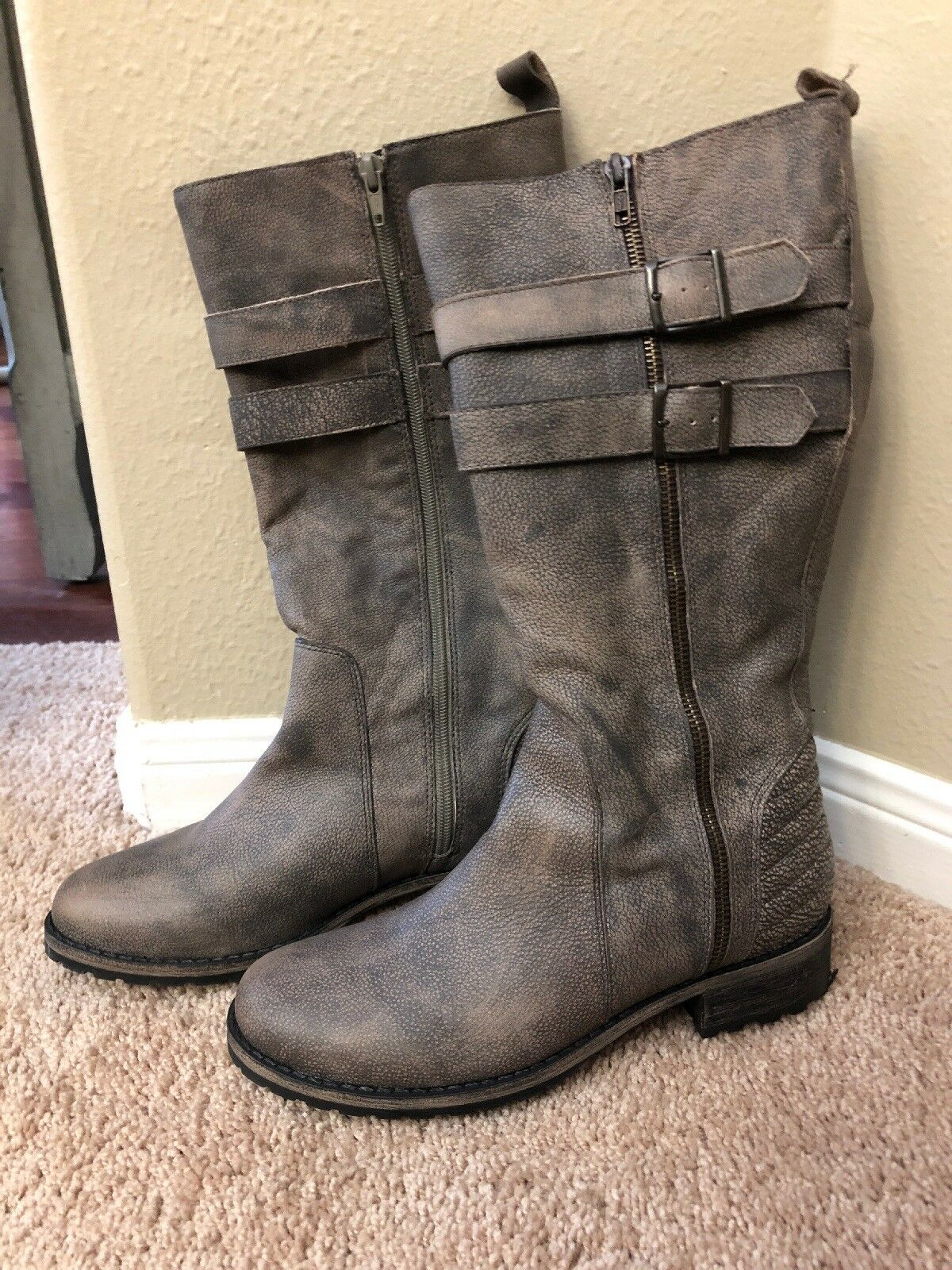 Matisse Roady Moto Riding Women US 9 Brown Knee High Boot Festival Clothing