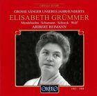 """Grosse S""""nger unseres Jahrhunderts: Elisabeth Grmmer (CD, Mar-2000, Orfeo)"""