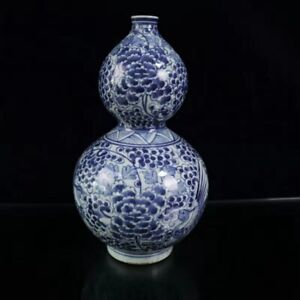 Chinese Blue and white Porcelain Handmade Exquisite Vase  12133