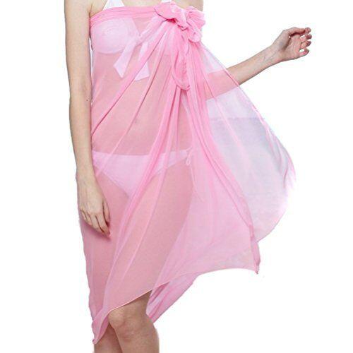 Ladies Chiffon Sarong Cover-Up Wrap Kaftan Summer Beach Holiday Dress Swimwear