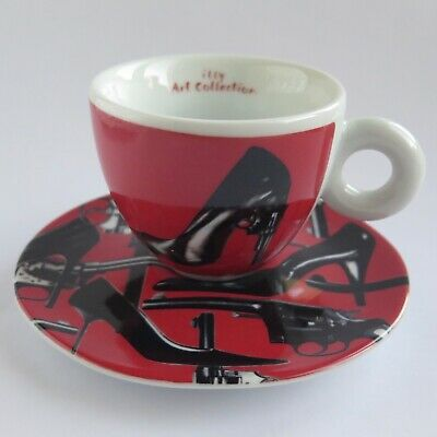 Illy Art Collection PEDRO ALMODOVAR 2009 CAPPUCCINO CUP & SAUCER High Heels | eBay
