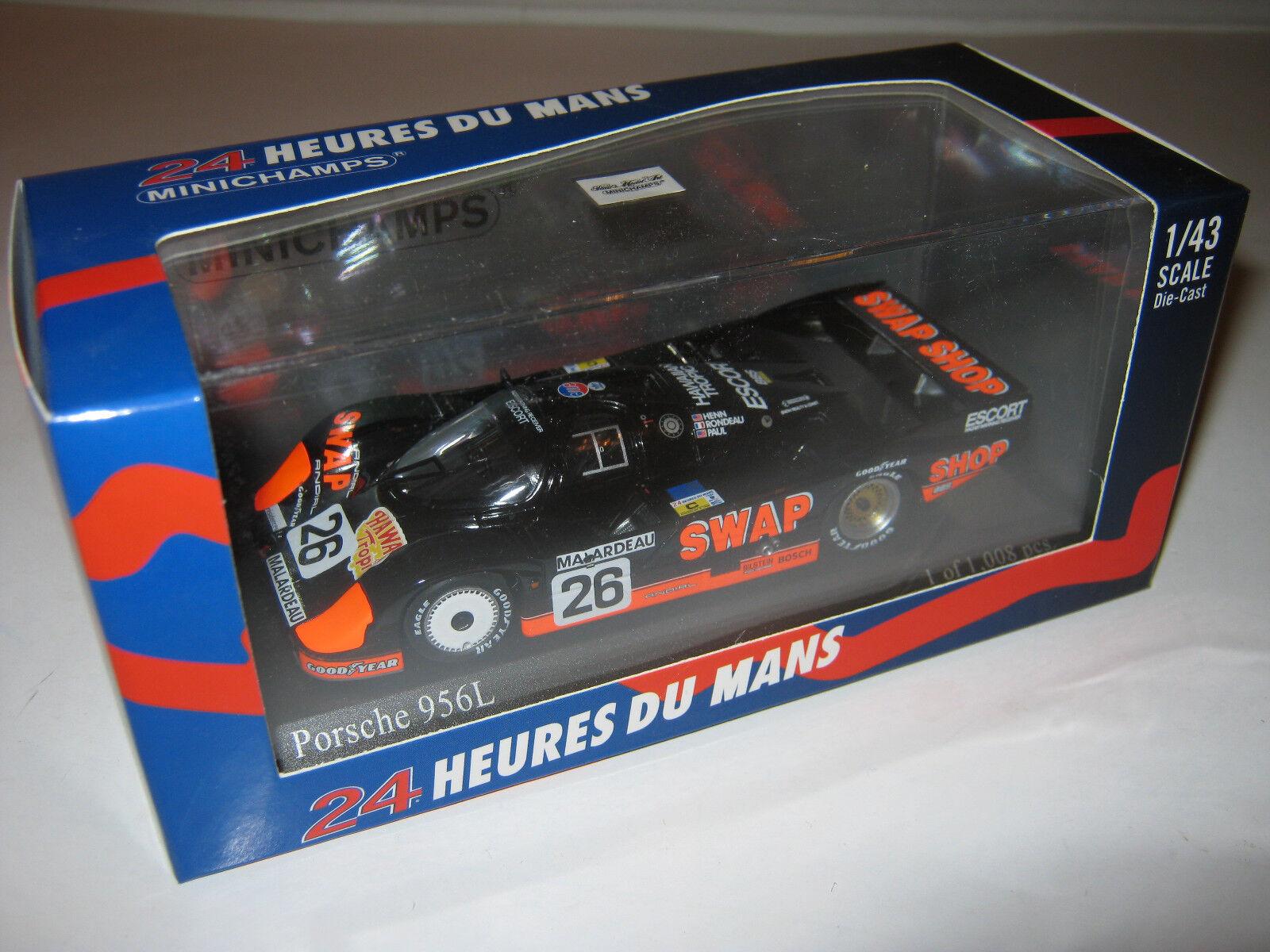1:43 PORSCHE 956l Henn Rondeau LEMANS 1984 Minichamps 430846526 NEW OVP L.E.