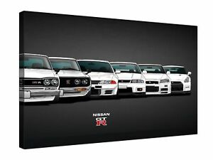 Evolution-Nissan-Skyline-GTR-20x30-Inch-Canvas-Wall-Art-Picture-Print-Framed