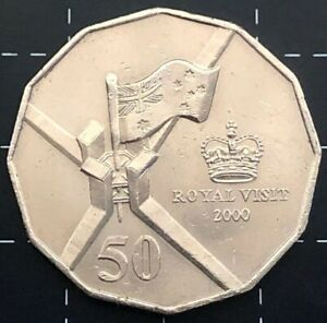 2000 50 cent coin royal visit