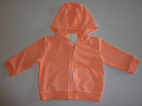 NEXT Really Cute Little Girls Orange Fluorescent Hoodie NWT