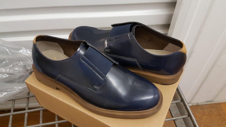 Clarks  Blau Uomo  Feren Slip Blau  Leder  Slip-On  UK 9,10 G 5c81be