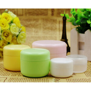 5-x-Empty-Make-up-jar-Pot-Travel-Face-Cream-Lotion-Cosmetic-Containers-xj