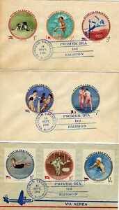 13948) Rep. Dominicana FDC (x3) 14.9.1960 Olympic Games