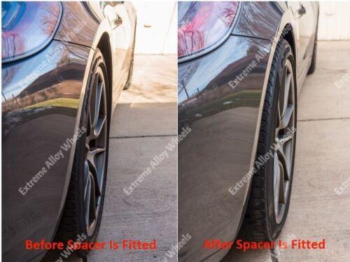 Alloy Wheel Spacers 15mm 20mm Audi A6 A8 Q2 Q3 R8 TT Black Cruize 5x112