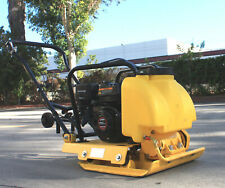 65hp Walk Behind Plate Compactor Compact Dirt Soil Asphalt Tamper Rammer Amp Tank