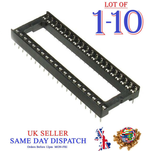 40 Pin IC Socket Standard Low Profile Integrated Circuit DIP40 2.54mm Pitch