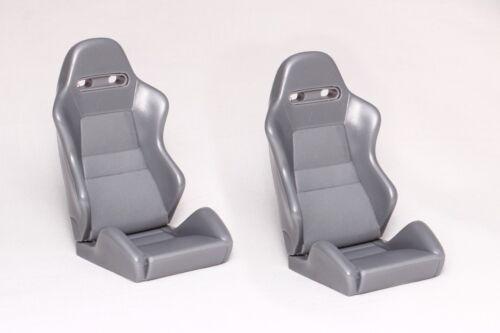 Recaro Sport Seats 1//10 Tamiya RC4WD Mojave Axial SCX10 CMX Vaterra Gmade