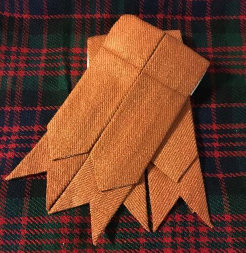 CC Men/'s Scottish kilt Sock flashes Irlandais safran//Kilt Flashes Safran Tartan