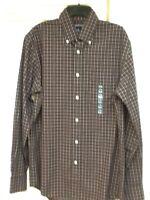 Lands' End Mens Button Down Plaid No-iron Shirt, Size Small14-14 1/2, $49