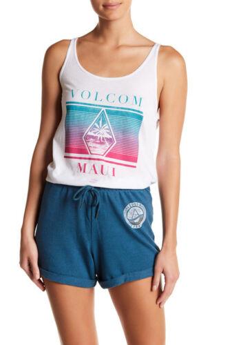 NWT Volcom M Island Rays Renee White Tank Top T-Shirt Sleeveless Maui Tee
