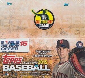 2015 Topps Series 2 Baseball 24-Pack Retail Box