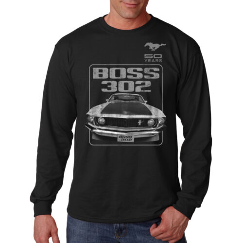 Ford Mustang 50 Years Boss 302 Classic Muscle Car Hot Rod Long Sleeve T-Shirt
