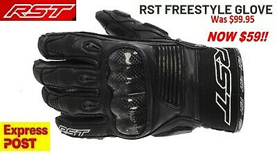 RST Freestyle Motorcycle Short Leather CE Gloves NEW 2XL RRP $99 Motorbike Road