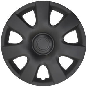 """Toyota Camry Style Hub Caps Wheel Covers for 15"""" Rims Matte Black Finish (4pc)"""