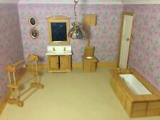 D H E 5 Piece  PINE Bathroom Set Fine Quality  Bath Toilet. Sink  Mirror job lot