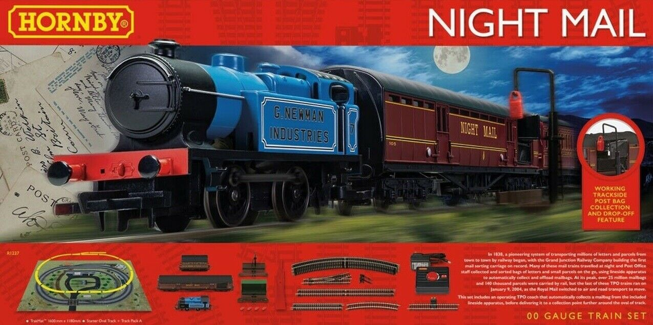 Hornby R1237 Night Mail Travelling Post Office completare estrellater Train Set