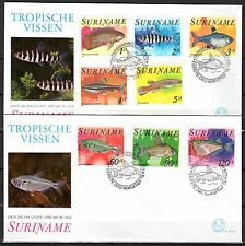 Suriname - 1978 Fish - Mi. 827-34 clean FDC's