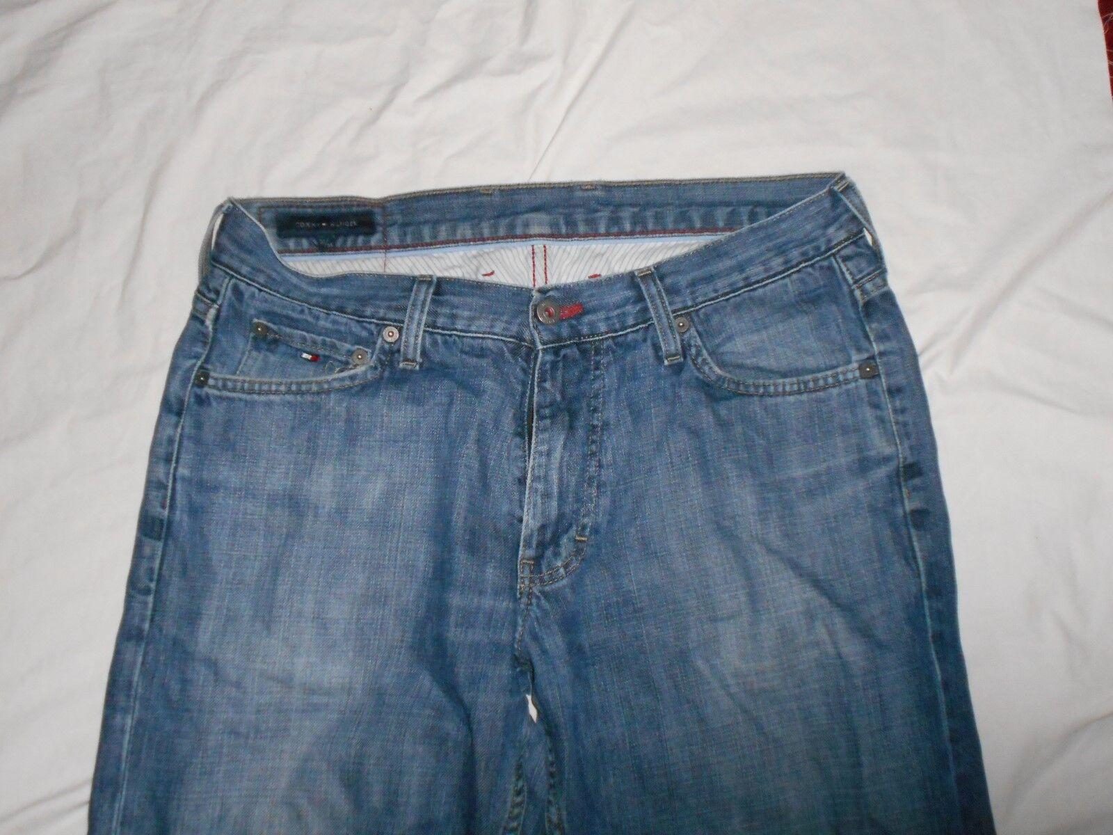 Vintage Tommy Hilfiger Taille 32 34 inside leg Classic Jeans pour homme Bleu Délavé Jeans Classic #130 cb5426