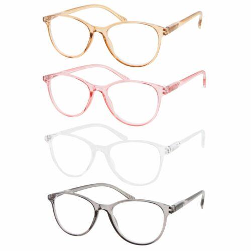 4 PACK+2.00Women/'s Cat Eye Multi 3 Focus Progressive Reading Glasses