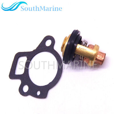 SouthMarine Boat Engine 6G8-12411-01 6G8-12411-02 6G8-12411-03 Thermostat and 62Y-12414-00 Gasket for Yamaha 9.9-70hp 4-Stroke Outboard Motor