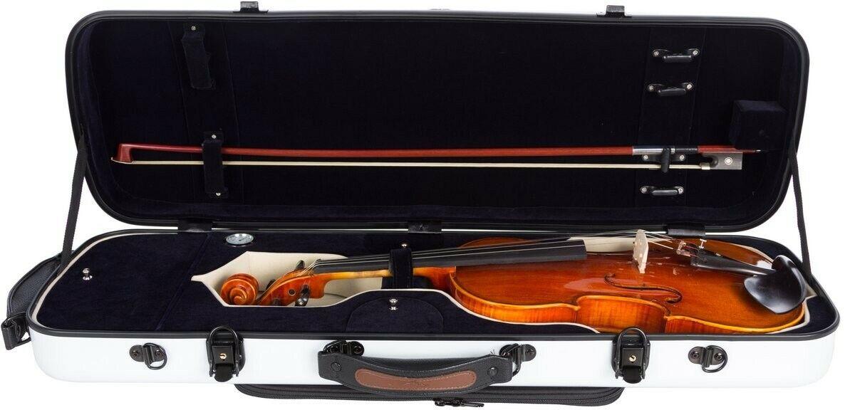 Reino Unido oblongo violin Case de de de fibra de vidrio caso oblongo 4 4 M-blancoo-Azul Marino 92023a