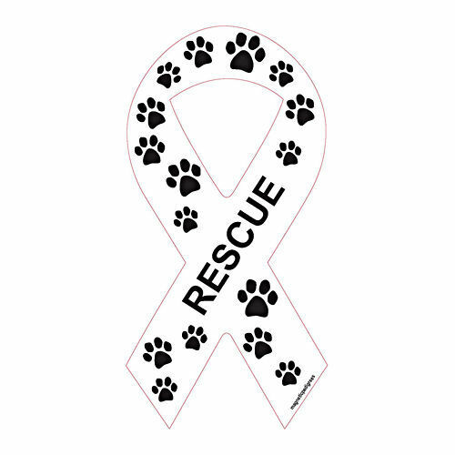 Rescue Ribbon Dog Car Magnet