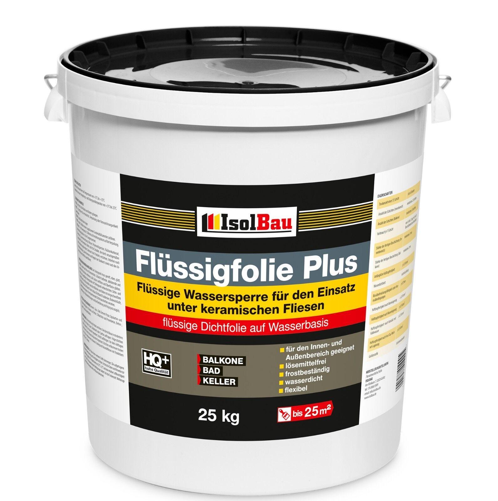 Flüssigfolie PLUS Dichtfolie Profi Abdichtung Innenbereich Außenbereich 25 kg.