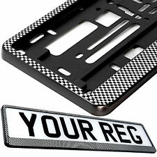 CARBON RALLY Car Number Plate Surround Holder FOR ANY CAR TRUCK VAN TRAILER